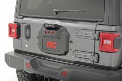 Rough Country Spare Tire Delete Kit Black Series for 18+ Jeep Wrangler JL, JLU 10584