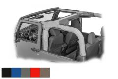 Dirtydog 4x4 Roll Bar Covers 8 Piece Kit For 2007-18 Jeep Wrangler JK 2 Door Models J2RBC07-