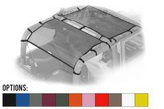 Dirtydog 4X4 Front & Rear Safari Style 2 Piece Sun Screen Kit For 2007-18 Jeep Wrangler JK 2 Door Models J2SS07F2