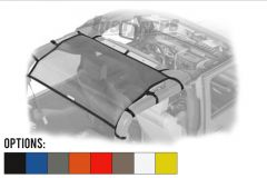 Dirtydog 4X4 Rear Seat Area Sun Screen For 2007-18 Jeep Wrangler JK 2 Door Models J2SS07R1-