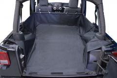 Dirtydog 4X4 Cargo Liner With Side-Subwoofer For 2007-14 Jeep Wrangler JK Unlimited 4 Door Models J4CLWS0714