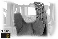 Dirtydog 4X4 Pet Divider With Seat Hammock 2 Piece Kit For 2007-18 Jeep Wrangler JK Unlimited 4 Door Models J4PD07FS-