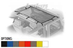 Dirtydog 4X4 Front Seat Area Safari Style Sun Screen For 2007-18 Jeep Wrangler JK 2 Door & Unlimited 4 Door Models J4SS07F1-