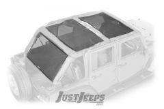 Dirtydog 4X4 Front/Rear & Cargo Sun Screen For 2007-18 Jeep Wrangler JK Unlimited 4 Door Models J4SS07F3-