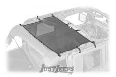 Dirtydog 4X4 Rear Seat Area Sun Screen For 2007-18 Jeep Wrangler JK Unlimited 4 Door Models J4SS07R1-
