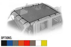 Dirtydog 4X4 Safari Style Sun Screen For 2007-18 Jeep Wrangler JK Unlimited 4 Door Models J4SS07S1-