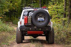 JCR Offroad Spare Tire Mounted License Plate Bracket LPRLC2-UNI-PC