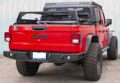 JCR Offroad Vanguard Rear Bumper in Black for 20+ Jeep Gladiator JT JTRV-PC
