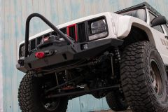 JCR Offroad Vanguard Front Winch Bumper with (Bolt-On) Grill Guard for 84-01 Jeep Cherokee XJ XJFV-