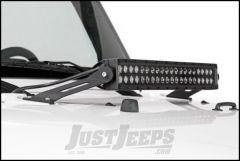 "Rough Country 20"" Dual-Row & Single-Row LED Light Bar Hood Mounts For 2007-18 Jeep Wrangler JK 2 Door & Unlimited 4 Door 70533"