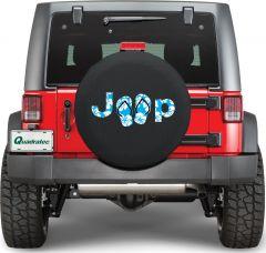 Quadratec Jeep Aloha Sandals Tire Cover ALOHA-