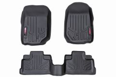 Rough Country Front & Rear Heavy Duty Floor Mats For 2018+ Jeep Wrangler JL Unlimited 4 Door Models M-60112