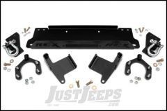 Rough Country Winch Mounting Plate With D-rings For 2007-18 Jeep Wrangler JK 2 Door & Unlimited 4 Door Models 1173