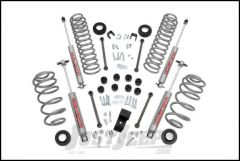 """Rough Country 3¼"""" Suspension Spring & Spacer Lift System With Premium N2.0 Series Shocks For 1997-02 Jeep Wrangler TJ (4 Cylinder Models) 641.20"""