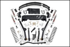 """Rough Country 6½"""" Long Arm Suspension Kit Performance 2.2 Series Shocks For 1984-86 Jeep Cherokee XJ With 2.8L V6 & NP242 Transfer Case 60722"""