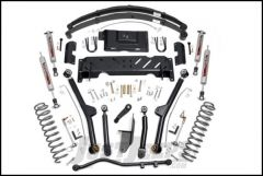 """Rough Country 4½"""" Long Arm Suspension Kit With Full Leaf Springs & Performance 2.2 Series Shocks For 1984-01 Jeep Cherokee XJ With 2.5L or 4.0L & NP231 Transfer Case 68622"""