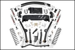"Rough Country 4½"" Long Arm Suspension Kit With Add a Leaf & Performance 2.2 Series Shocks For 1984-01 Jeep Cherokee XJ With 2.8L V6 & NP242 Transfer Case PERF614"