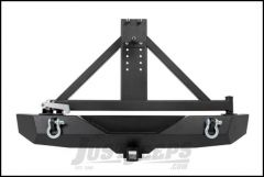 """Rough Country Full Width Rear Bumper With 2"""" Accessory Mount & Tire Carrier For 2007-18 Jeep Wrangler JK 2 Door & Unlimited 4 Door 110503"""
