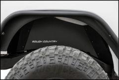 Rough Country (Black) Rear Inner Fender Liners For 2007-18 Jeep Wrangler JK 2 Door & Unlimited 4 Door Models 10500