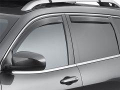 WeatherTech Front & Rear Side Window Air Deflectors (4 Piece Set) In Dark For 2014+ Jeep Cherokee KL Models 82741