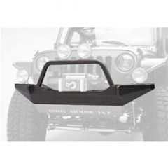 Body Armor 4X4 Front High Clearance Winch Bumper With Grill Guard In Textured Powder Coat For 2007-18 Jeep Wrangler JK 2 Door & Unlimited 4 Door Models