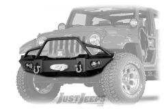 Fab Fours Front Jeep Lifestyle Bumper With Grill Guard & Winch Mount For 2007-18 Jeep Wrangler JK 2 Door & Unlimited 4 Door Models JK07-B1850-1
