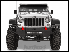 Fab Fours Front Vengeance Bumper For 2007-18 Jeep Wrangler JK 2 Door & Unlimited 4 Door JK07-D1851-1