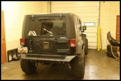 Fab Fours Rear Bumper Base For 2007-12 Jeep Wrangler JK 2 Door & Unlimited 4 Door (Optional Tire Carrier Available JP-Y1251T-1) JK07-Y1251-1