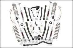 """Rough Country 6"""" X Series Suspension lift Kit With Premium N3 Series Shocks For 2007-18 Jeep Wrangler JK Unlimited 4 Door Models 68322"""