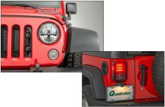 Quadratec Gen II LED Headlights & LED Tail Lights for 07-18 Jeep Wrangler JK, JKU 97109.0080