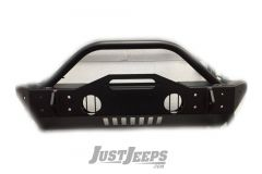 Trail Head Customs Front Mid-Width Bumper (Black Powered Coat) For 2007-20+ Jeep Wrangler JK/JL & Gladiator JT Models JKFBS-BLK