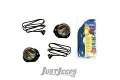 Fab Fours Stubby Front Bumpers Fog Light Kit For 2007-18 Jeep Wrangler JK 2 Door & Unlimited 4 Door Models JKST-LA