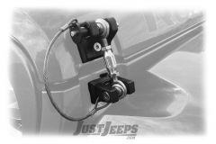 Drake Off Road Hood Hold Downs For 2018+ Jeep Gladiator JT & Wrangler JL 2 Door & Unlimited 4 Door Models With Optional Locking D-JL-190001-K-