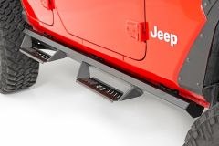Rough Country Cab-Length AL2 Drop Steps for 18+ Jeep Wrangler JLU AL519204