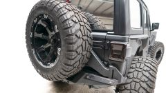 Fab Fours  Back Tire Carrier For 2018+ Jeep Wrangler JL 2 Door & Unlimited 4 Door Models JL18-Y1851T-1