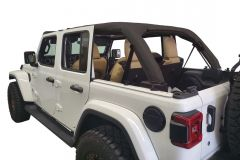 Dirtydog 4x4 Roll Bar Covers for 18+ Jeep Wrangler JL Unlimited 4 Door Soft top version JL4RBCS-