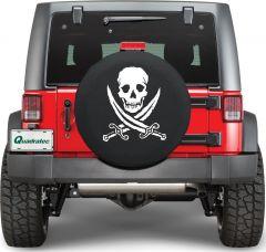 Quadratec Jolly Roger Ruff Pirate Tire Cover PIRATE-