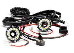 """KC HiLiTES Cyclone LED 2"""" Light Clear For Under Hood 355"""