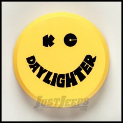 "KC HiLiTES 6"" Hard Round Cover In Black KC on Yellow 5202"