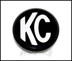 "KC HiLiTES 6"" Hard Plastic Light Cover In Black With White Logo 5105"