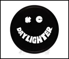 """KC HiLiTES 6"""" Hard Plastic Light Cover In Black With White Smiley Logo 5200"""
