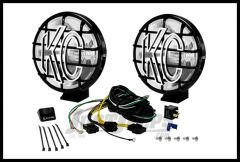 "KC HiLiTES 6"" Apollo Pro Series 100 Watt Driving (Spread) Light System With Stone Guards In Black 151"