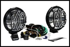 "KC HiLiTES 6"" Apollo Pro Series 100 Watt Fog Light System With Stone Guards In Black 152"