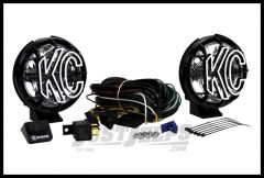 "KC HiLiTES 5"" Apollo Pro Series 55 Watt Driving Light System With Stone Guards In Black 451"