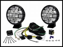 """KC HiLiTES 5"""" Apollo Pro Series 55 Watt Fog Light System With Stone Guards In Black 452"""