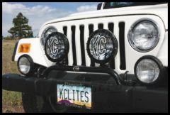 KC HiLiTES Bumper Hoop Bar With 2 Light Mounts For 1997-06 Jeep Wrangler TJ & Unlimited 7400