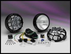 "KC HiLiTES 6"" SlimLite 100W Super White Fog Pair Pack In Black 127"