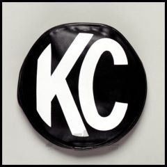 """KC HiLiTES 6"""" Soft Round Cover In White Block KC on Black 5100"""