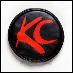 """KC HiLiTES 6"""" Soft Round Covers In Black In Red 5110"""
