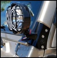 KC HiLiTES Windshield Light Mount Brackets In Black For 1997-06 Jeep Wrangler TJ & Unlimited 7311